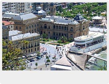 Vista del Ayuntamiento de San Sebastián-Donostia